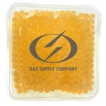 Custom Printed Square Orange Hot/ Cold Pack with Gel Beads