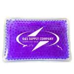 Custom Printed Rectangular Purple Hot/ Cold Pack with Gel Beads