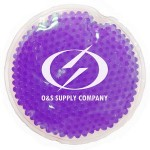 Personalized Purple Round Hot/ Cold Pack with Gel Beads