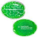 Promotional Green Brain Hot/ Cold Pack with Gel Beads