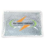 Custom Imprinted Rectangular White Hot/ Cold Pack with Gel Beads