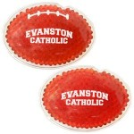 Personalized Red Football Hot/ Cold Pack with Gel Beads