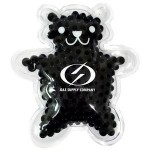 Promotional Black Teddy Bear Hot/ Cold Pack with Gel Beads