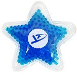 Custom Imprinted Blue Star Hot/ Cold Pack with Gel Beads