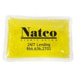 Custom Imprinted Rectangular Yellow Hot/ Cold Pack with Gel Beads
