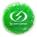 Promotional Green Round Hot/ Cold Pack with Gel Beads