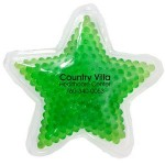 Custom Imprinted Green Star Hot/ Cold Pack with Gel Beads
