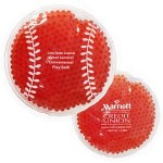 Custom Printed Red Baseball Hot/ Cold Pack with Gel Beads