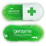 Logo Branded Green Pill Capsule Hot/ Cold Pack with Gel Beads