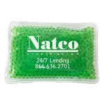 Personalized Rectangular Green Hot/ Cold Pack with Gel Beads