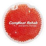 Custom Printed Red Round Hot/ Cold Pack with Gel Beads