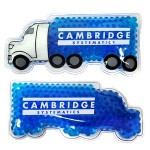 Custom Imprinted Blue Semi Truck Hot/ Cold Pack with Gel Beads