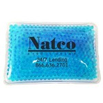 Custom Imprinted Rectangular Teal Hot/ Cold Pack with Gel Beads