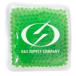 Personalized Square Green Hot/ Cold Pack with Gel Beads