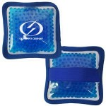 Custom Imprinted Cloth Square Blue Hot/ Cold Pack with Gel Beads