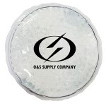Promotional White Round Hot/ Cold Pack with Gel Beads