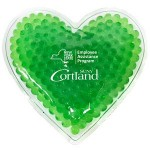 Personalized Green Heart Hot/ Cold Pack with Gel Beads