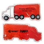 Custom Imprinted Red Semi Truck Hot/ Cold Pack with Gel Beads