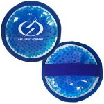 Personalized Cloth Round Blue Hot/ Cold Pack with Gel Beads
