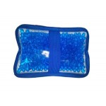 Personalized Cloth Rectangular Blue Hot/ Cold Pack with Gel Beads