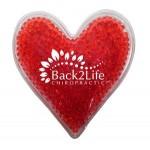 Custom Printed Heart Gel Bead Hot/Cold Pack (Spot Color)