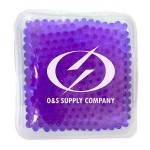 Promotional Square Purple Hot/ Cold Pack with Gel Beads