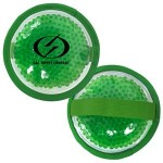 Custom Imprinted Cloth Round Green Hot/ Cold Pack with Gel Beads