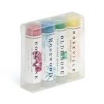4 Pack Of Fashion Tinted Beeswax Lip Balm Custom Printed