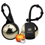 Logo Branded Pumpkin Spice Holiday Metallic Lip Balm & Silicone Carabiner