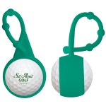 Silicone Carabiner Golf Ball Lip Balm w/ Fill Choice Custom Printed
