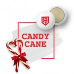 Custom Printed USA Made Rubber Lip Balm Candy Cane