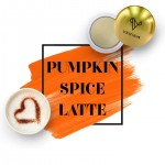 Logo Branded Metallic Lip Balm Pumpkin Spice Latte