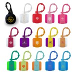 Promotional,Custom Imprinted Cube Lip Balm w/Carabiner