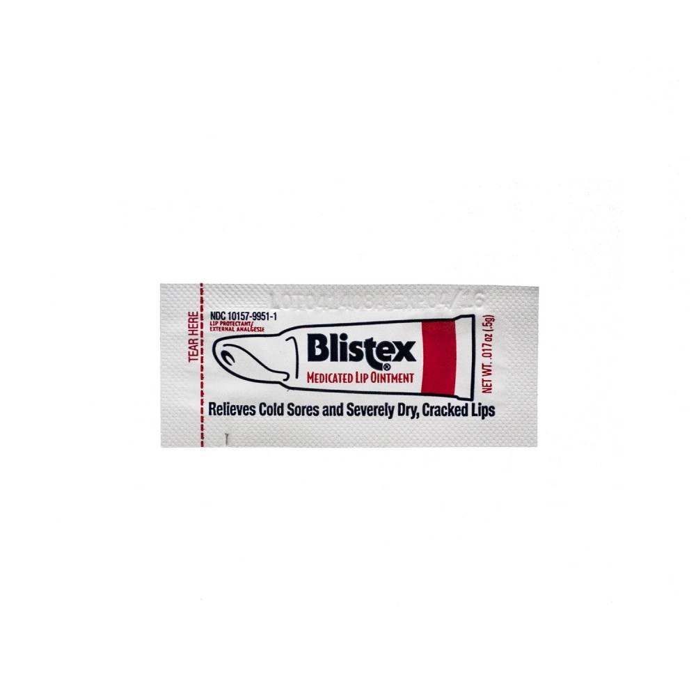 Blistex Medicated Lip Ointment Packet Custom Printed