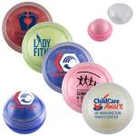 """Cora"" Clear Cover Vanilla Scented Lip Moisturizer Ball (Overseas) Custom Imprinted"