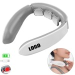 Rechargeable Electric Pulse Neck Massager With Heat Therapy Custom Imprinted