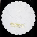 Scalloped Cellulose Coasted Custom Printed