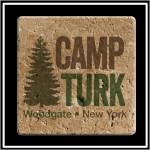 Logo Branded Faux Travertine Printed Square Coaster