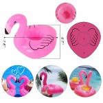 Custom Printed Pink Flamingo Floating Coaster Can Holder
