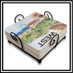 Custom Imprinted Metal Wire Coaster Holder Set - Any 4 Custom Printed Coasters