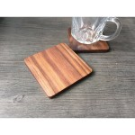 Natural Square Walnut Wood Coaster Custom Printed