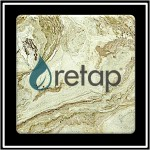 Custom Imprinted Faux Marble Printed Square Coaster