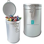 Custom Imprinted Air Tight Canister Tin Container - Empty