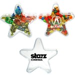 Star Shape Plastic Candy Container - Empty Logo Branded