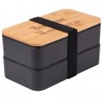 Custom Imprinted Wheat Straw Bento Box (Direct Import - 8-10 Weeks Ocean)