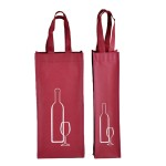 Non Woven Wine Bottle Tote Bag With Handle Custom Printed