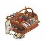 Custom Printed Largo 2 Person Handmade Picnic Basket