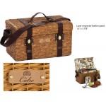 Custom Printed Woodstock 4 Person Picnic Basket