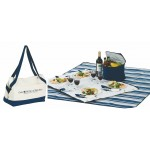 Custom Imprinted Acadia 4 Person Picnic Tote with fleece blanket