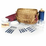 Highlander Picnic Basket w/Service for 4 Custom Imprinted